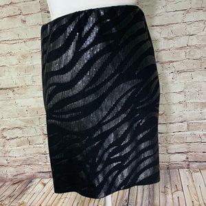 Torrid sequin front Blk skirt 3X NWT wide elastic
